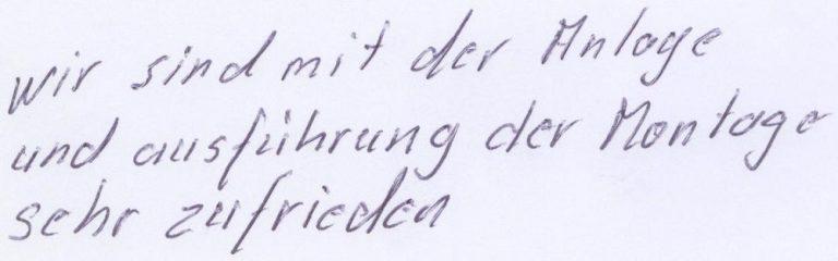 Signatur - Alfred Huber