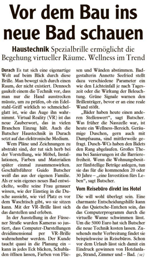 Redaktionsbericht Firma Butscher, 20.05.2017